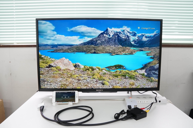 HY-HDRCA1(HDMI→RCA変換アダプタ)を使用してiPhone7 Plusの画面をテレビに出力してみました