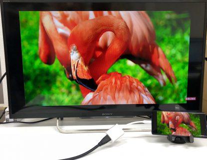 Galaxy Note9でのミラーリング動作確認が完了しました(Type-C to HDMI 変換アダプタ HY-TCHD4)