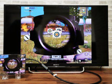 arrows NX9 F-52Aをミラーリングしてテレビに出力させてみました(Type-C to HDMI変換アダプターHY-TCHD8)