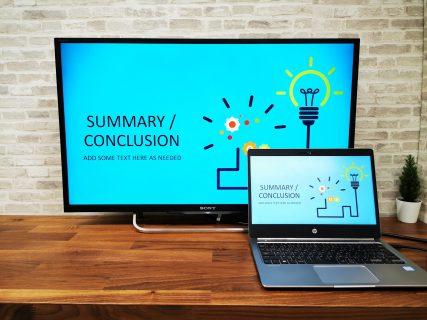 テレビをパソコンモニターとして使う方法。Type-C HDMI変換USBハブ HY-TCHD9(HP EliteBook Folio G1編)