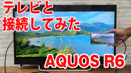 AQUOS R6 SH-51Bをミラーリングしてテレビに出力させてみました(Type-C to HDMI変換アダプターHY-TCHD8)